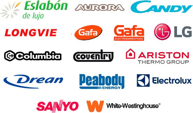 Drean, Gafa, Eslabon de Lujo, LG, Sanyo, Electrolux, Candy, Columbia y Convetry